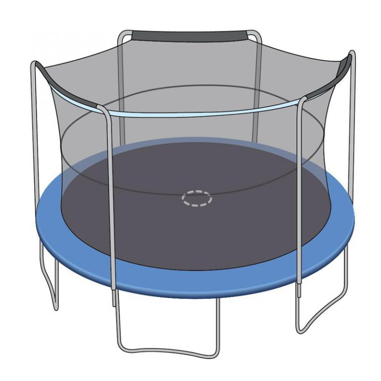 Trampoline Enclosure Safety Netting Sleeve Nets for Arched Poles